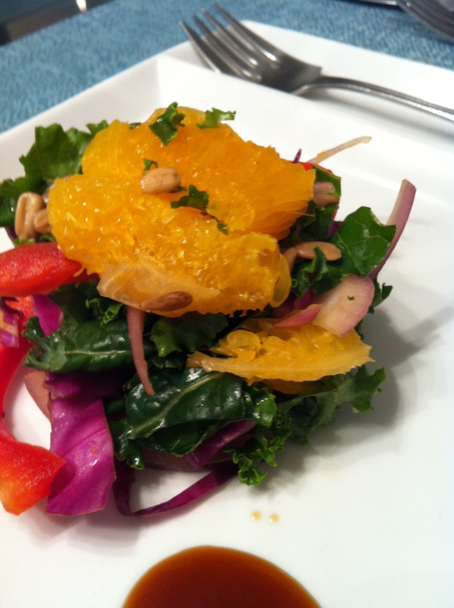 Kale Salad with Presto Moscato Dolce