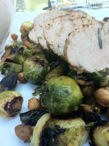 Grilled Brussels Sprouts & Roasted Chickpee Hash