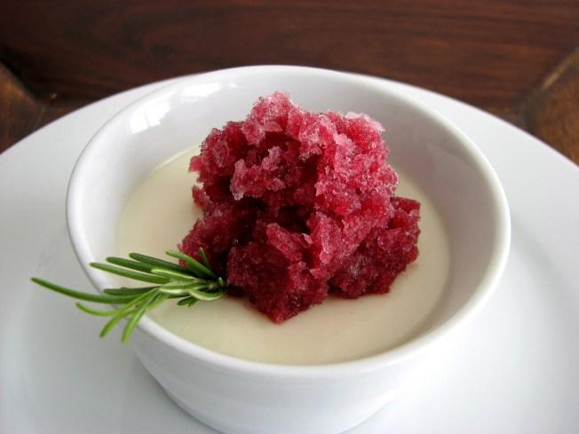 Apothic Granita, Vanilla Panna Cotta