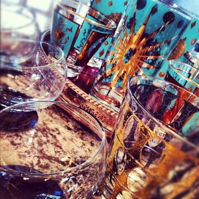 Classy Concoctions Vinatge Barware, Glassware
